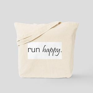 Run Happy Tote Bag