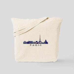 Mosaic Skyline of Paris France Tote Bag