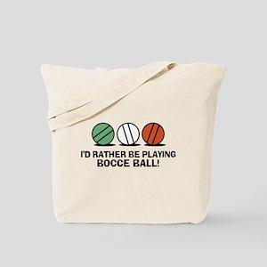 Funny Bocce Tote Bag