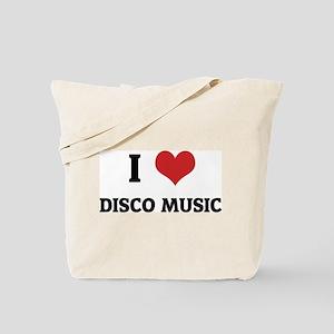 I Love Disco Music Tote Bag
