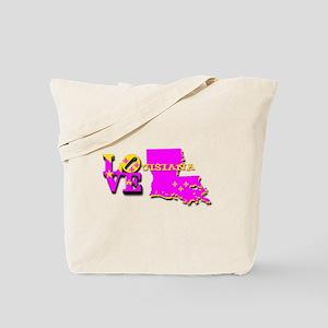 LOUISIANA LOVE PURPLE GOLD Tote Bag