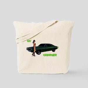 69 Charger Pinup Tote Bag