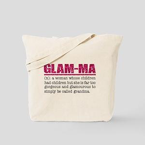 Faux Glitter Hot Pink Glam-Ma Tote Bag