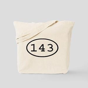 143 Oval Tote Bag