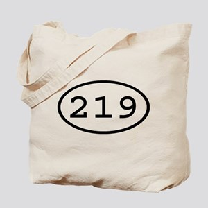 219 Oval Tote Bag