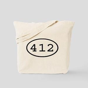 412 Oval Tote Bag