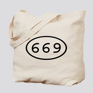 669 Oval Tote Bag
