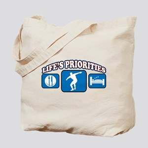 Life's Priorities Discus Tote Bag