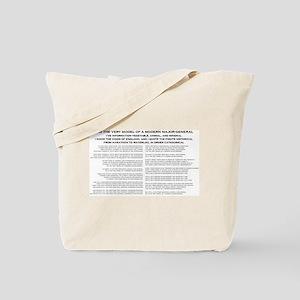Modern Major General Tote Bag