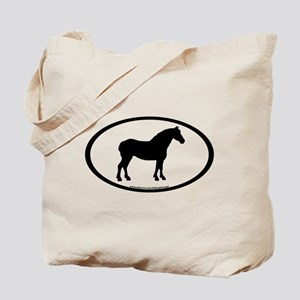 Draft Horse Oval Tote Bag