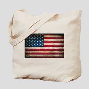 Faded American Flag Tote Bag