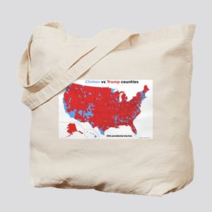 Trump vs Clinton Map Tote Bag