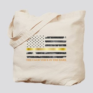 Thin Yellow Line - Thin Gold Line Tote Bag