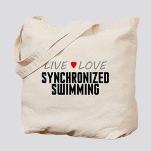 Live Love Synchronized Swimming Tote Bag