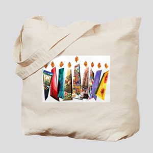 Fabric Chanukah Menorah Tote Bag