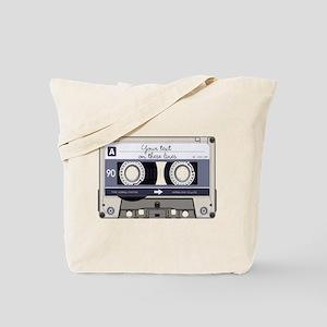 Customizable Cassette Tape - Grey Tote Bag