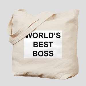 """World's Best Boss"" Tote Bag"