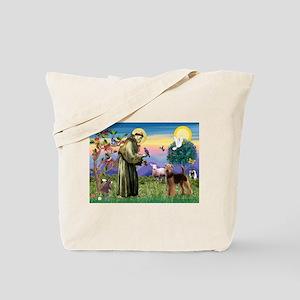 Saint Francis & Airedale Tote Bag