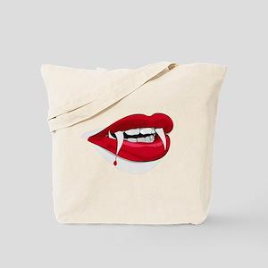 Halloween Vampire Teeth Tote Bag
