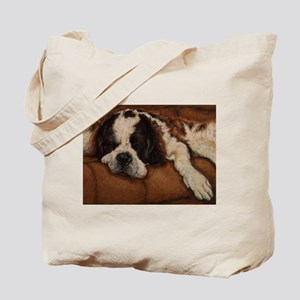 Saint Bernard Sleeping Tote Bag
