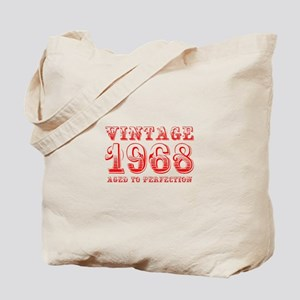 VINTAGE 1968 aged to perfection-red 400 Tote Bag