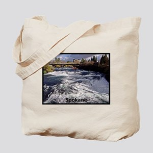 Spokane River Upper Falls Tote Bag