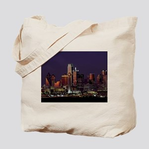Dallas Skyline at Night Tote Bag