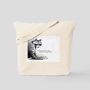 Reading Raccoon Tote Bag