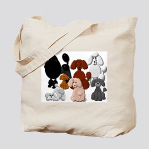 TINY POODLE PACK COLLAGE Tote Bag