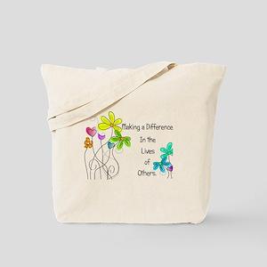 Caregiver Quote Tote Bag