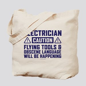 Caution Electrician Tote Bag
