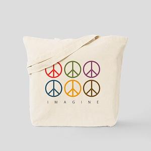 Imagine - Six Signs of Peace Tote Bag