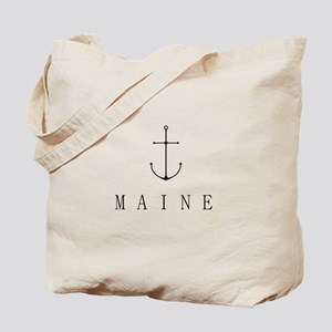Maine Sailing Anchor Tote Bag