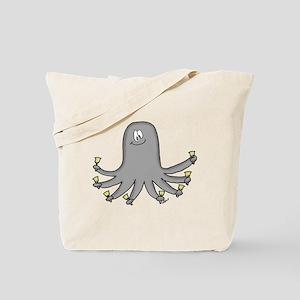 Octopus Handbells Tote Bag