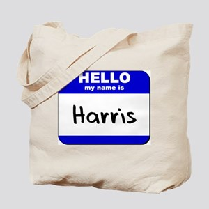 hello my name is harris Tote Bag