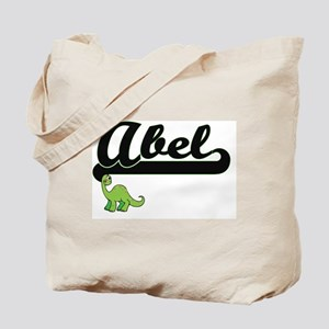 Abel Classic Name Design with Dinosaur Tote Bag