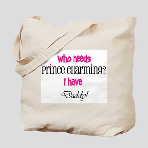 Daddy's my Prince (pink) Tote Bag
