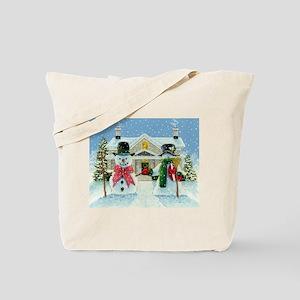 American Snowman Gothic Tote Bag