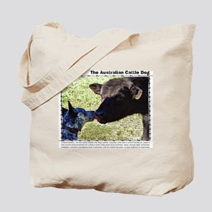 Kissing Cows Tote Bag