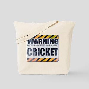 Warning: Cricket Tote Bag