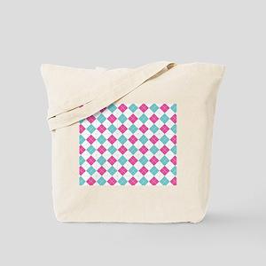 Colorful Argyle Pattern Tote Bag