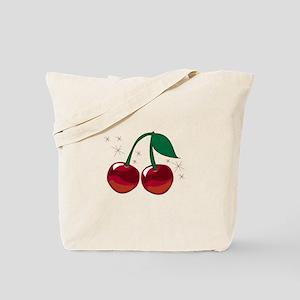 Sparkling Cherries Tote Bag