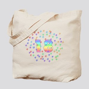 18th Birthday Pastel Stars Tote Bag