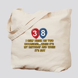 38 year old birthday designs Tote Bag