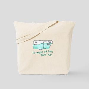 GO WHERE ROAD TAKES YOU Tote Bag