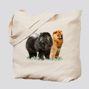 red and black chows Tote Bag