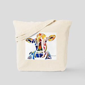 Whimzical Original Cow Art Tote Bag