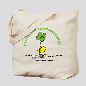 Happiness is a Four Leaf Clover Tote Bag
