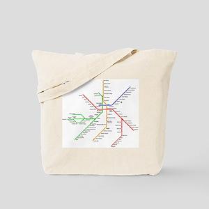 Boston Rapid Transit Map Subway Metro Tote Bag