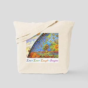 Live Love Laugh Imagine Tote Bag